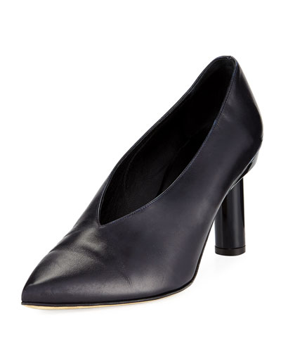 Zuri Smooth Leather High-Vamp Pump