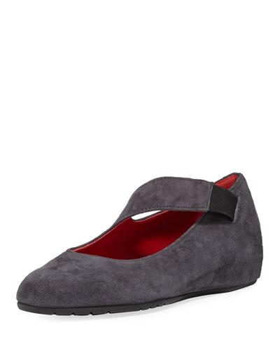 Rian Asymmetric Comfort Wedge Flat, Gray