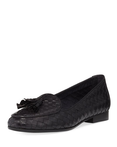 Nash Woven Tassel Loafer, Black