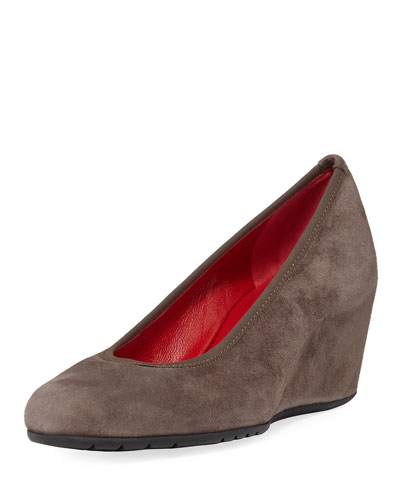 Maika Comfort Wedge Pump, Brown