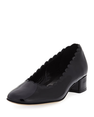 Hali Scallop Patent Pump, Black