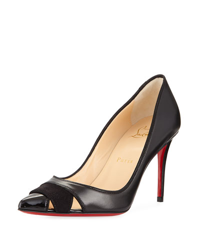 Biblio Leather 85mm Red Sole Pump