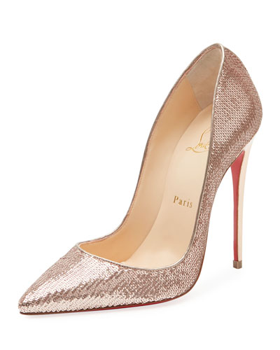 So Kate Sequined Red Sole Pump