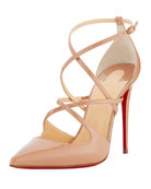 Cross Fliketa Patent Red Sole Pump