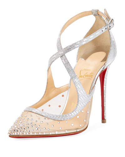 Twistissima Strass Strappy Red Sole Pump