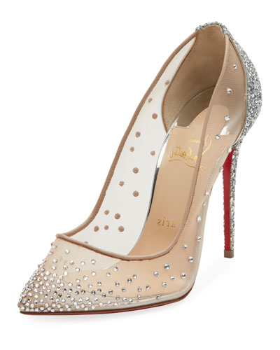 Follies Strass Mixed Red Sole Pump