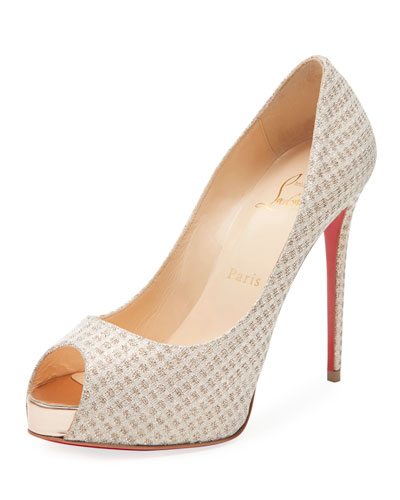 New Very Prive Lurex Platform Red Sole Pump