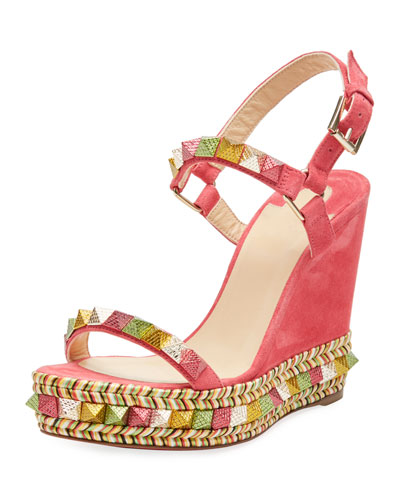 Pyraclou Spike Wedge Red Sole Sandal