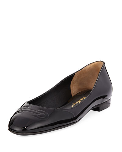 embossed flat leather shoes neiman marcus