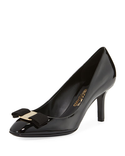 Patent Vara Bow 70mm Pump, Nero