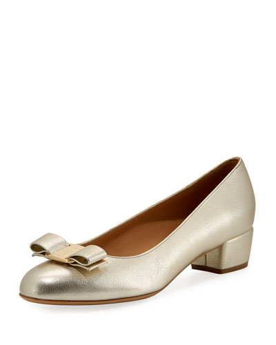 Metallic Vara Bow 30mm Pump, Sahara