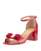 Gavina Patent Leather Vara Bow Sandal