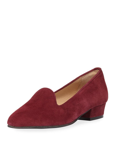 Ariele Chunky-Heel Loafer, Wine