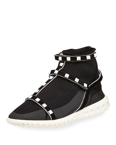 Valentino Rockstud Technical Knit Sneakers 2MaBpUJ