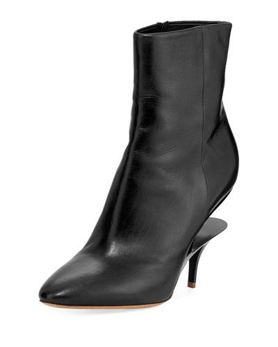 Split-Heel Calf 85mm Bootie