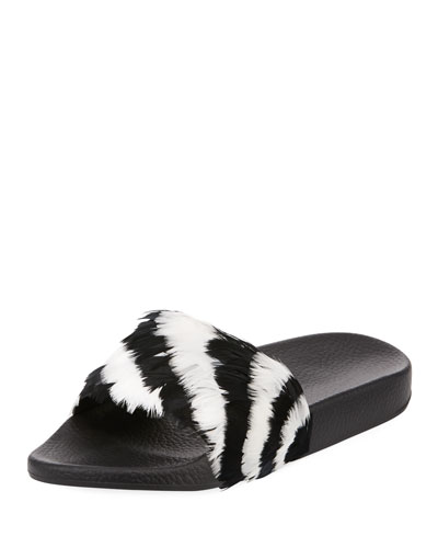 Free Feathers Pool Slide Sandal