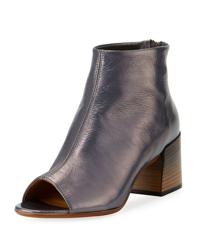 Solara Crinkled Peep-Toe 65mm Bootie