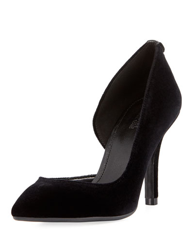 Nathalie Velvet Flex High Pump, Black