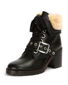 Kay Shearling Lace-Up Boot