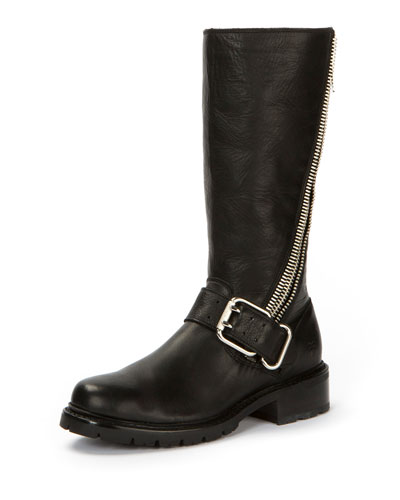 Samantha Calf-High Zip Boot