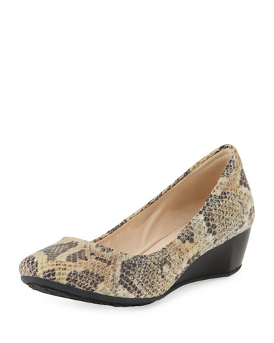 Sadie Grand Printed Wedge Pump, Snake