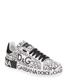 Dolce & Gabbana Logo-Print Platform Sneakers