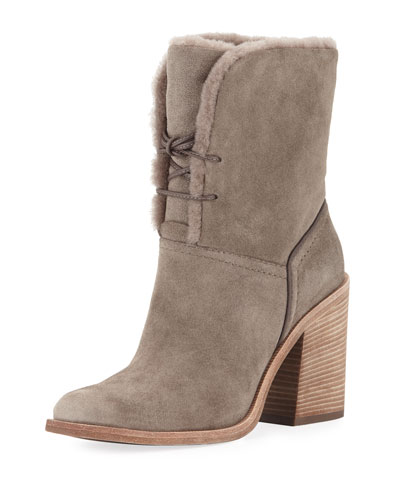 Jerene Shearling-Lined Ankle Bootie