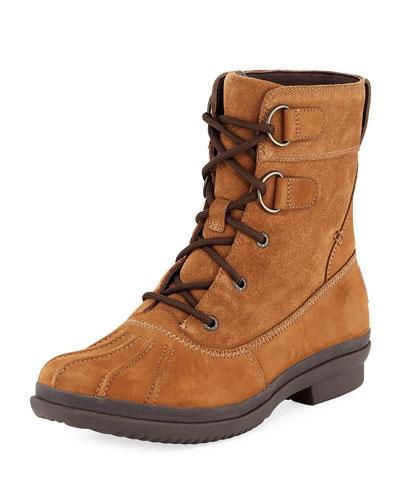 Azaria Suede Duck Boot, Brown