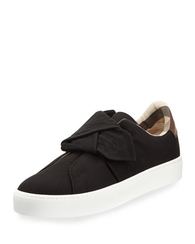 Westford Fabric Knotted Sneaker, Black