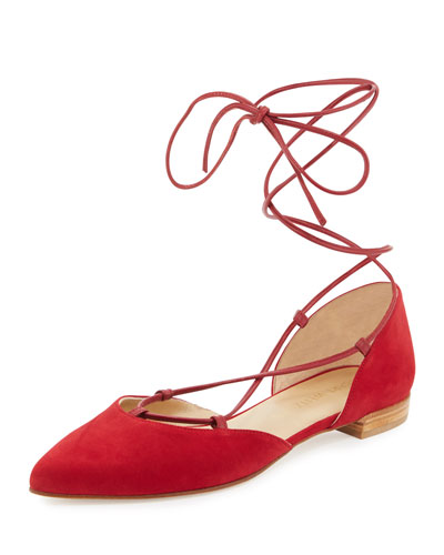 Gilligan Lace-Up d'Orsay Flat