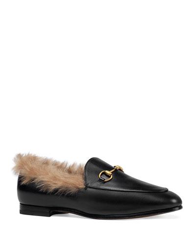 10mm Jordaan Leather And Fur Loafer