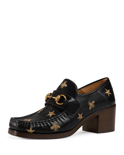 Vegas Bee Block-Heel Loafer