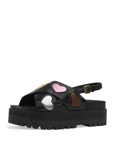 Sunrise Platform Leather Sandal