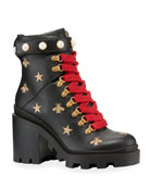 Gucci Flat Trip Leather Hiking Boot