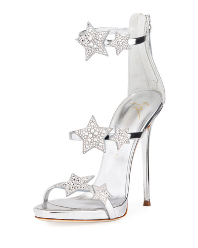 Metallic Leather Star Sandal