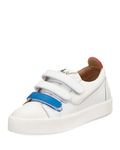 Two-Tone Grip-Strap Sneaker