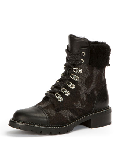 Samantha Camouflage Mixed Hiker Boot