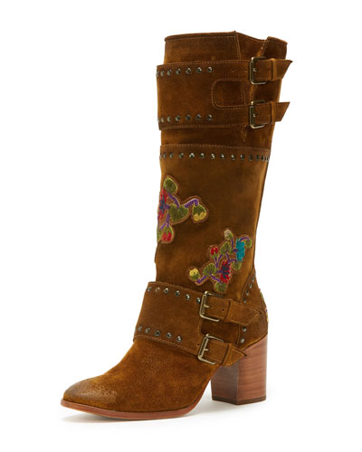 Nomi Flower Engineer Calf-High Boot