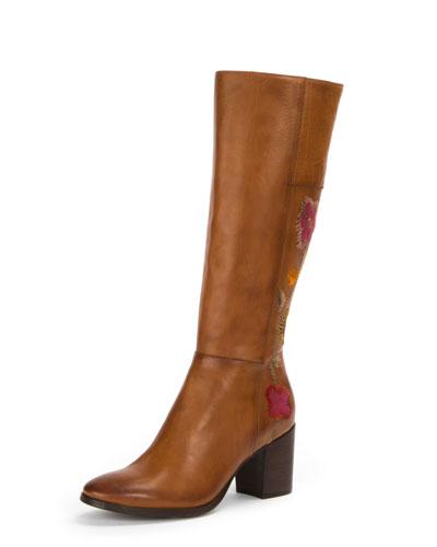 Nova Flower Tall Knee-High Boot