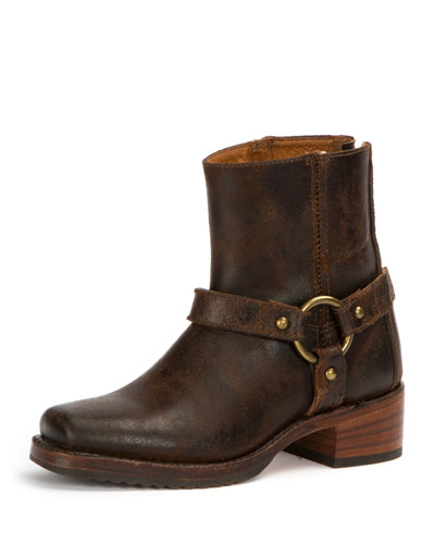 Harness Waxed Suede Boot, Chocolate