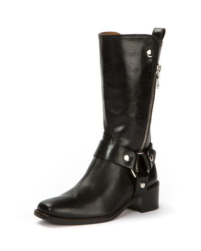 Modern Harness Tall Zip Boot