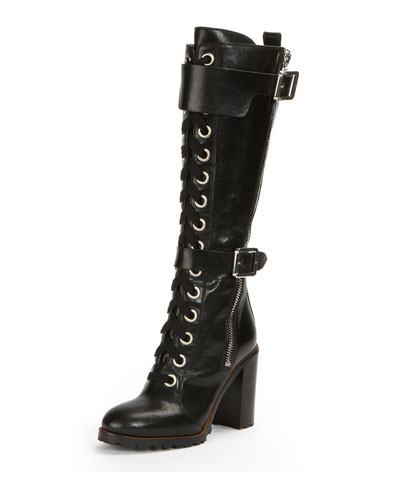 Harlan Tall Lace-Up Military Boot
