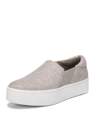 Warren Felt Fabric Platform Sneaker