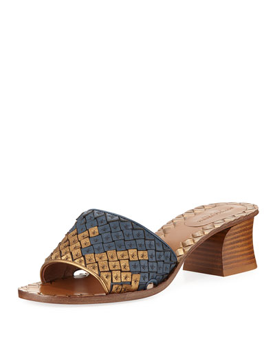 Intrecciato Woven Band Slide Sandal