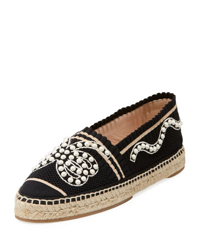 Fabric Pearlescent Espadrille