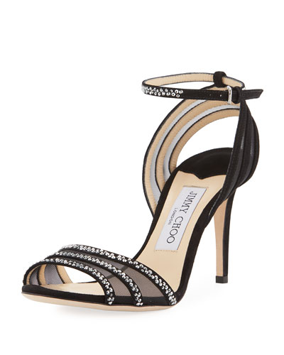Betty Strappy Crystal 85mm Sandal