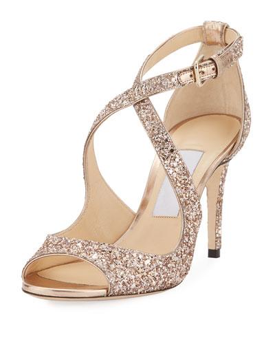 Emily Coarse Glitter 85mm Sandal