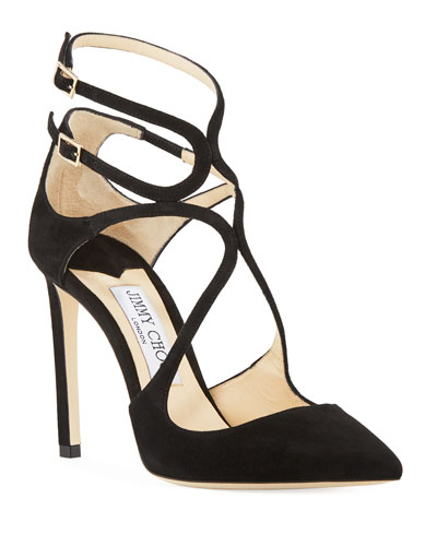 Lancer Suede Caged 100mm Pumps