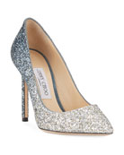 Jimmy Choo Romy Glitter Degrade 100mm Pumps