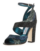 Falcon Glitter Mixed 100mm Sandal